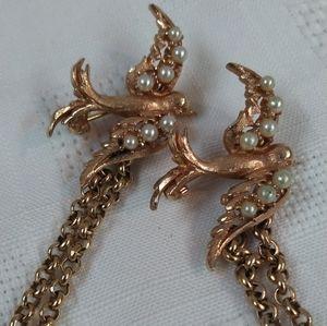 Vintage Hobe Dove Sweater Clip Pin